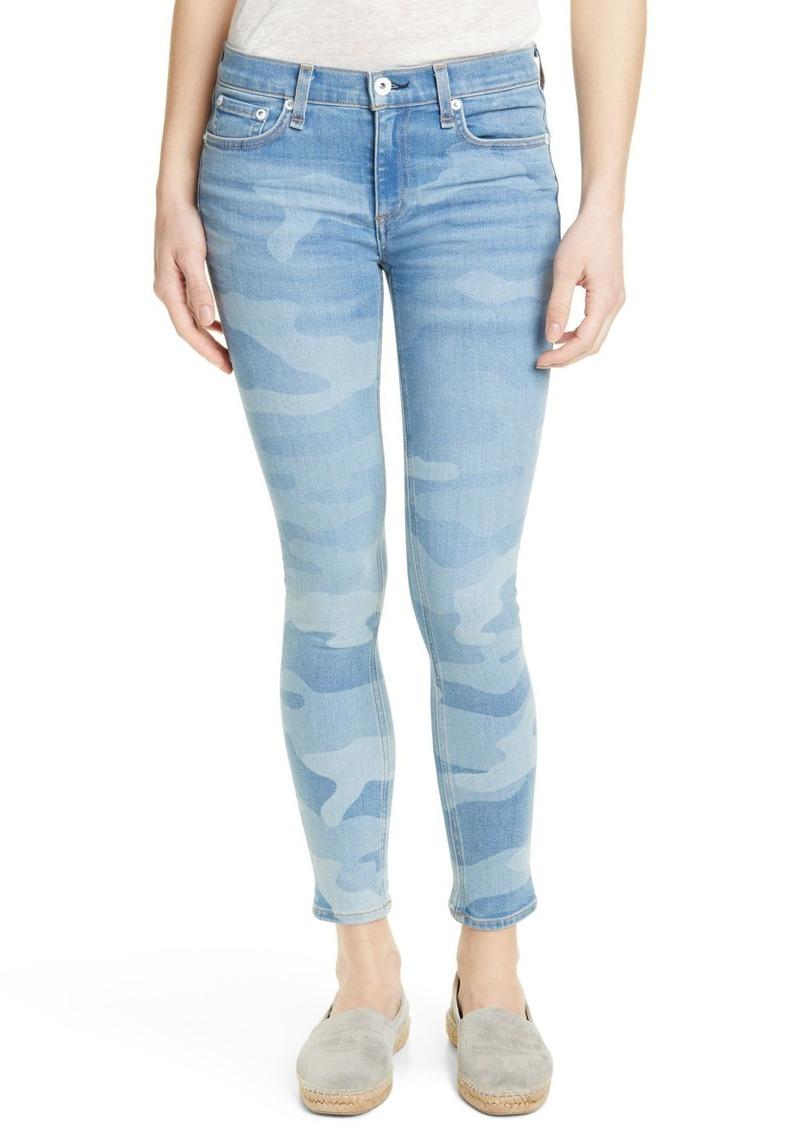 rag & bone Camo Print Ankle Skinny Jeans