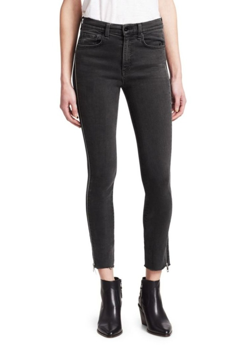 Rag & Bone Carlton Zip-Leg Cropped Skinny Jeans