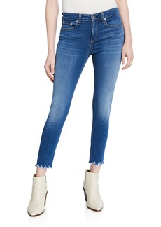 rag & bone Cate Cropped Skinny Jeans with Shredded Hem