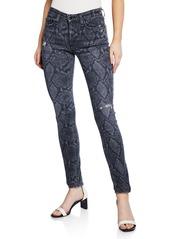 rag & bone Cate Mid-Rise Ankle Skinny Snake-Print Jeans