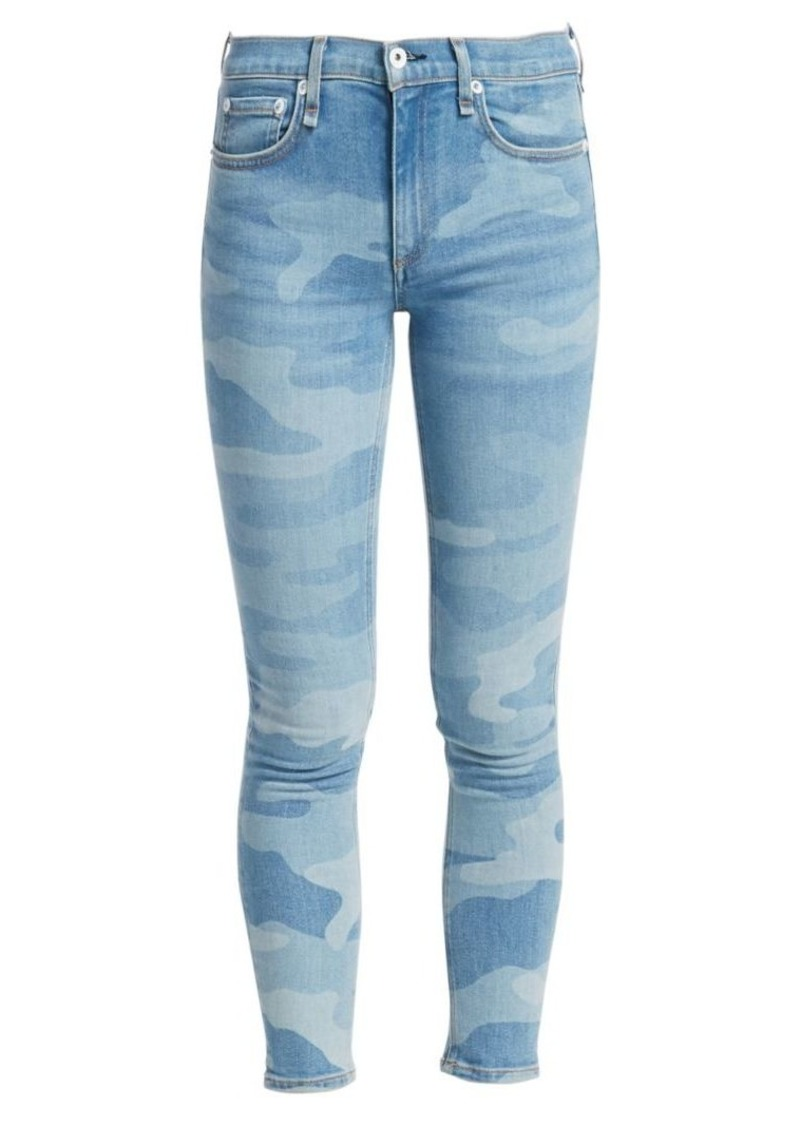 rag & bone Cate Mid-Rise Camo Ankle Skinny Jeans