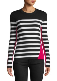 Rag & Bone Cecilee Crewneck Striped Colorblock Pullover Sweater