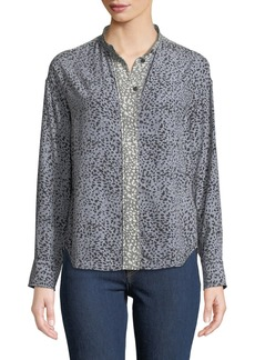 Rag & Bone Christie Long-Sleeve Cheetah Animal-Print Silk Blouse