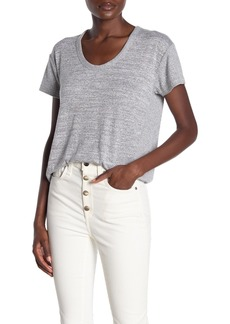 rag & bone Clara Mixed Knit Scoop Neck Top