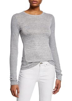 Rag & Bone Clara Torqued Slim Long-Sleeve Top