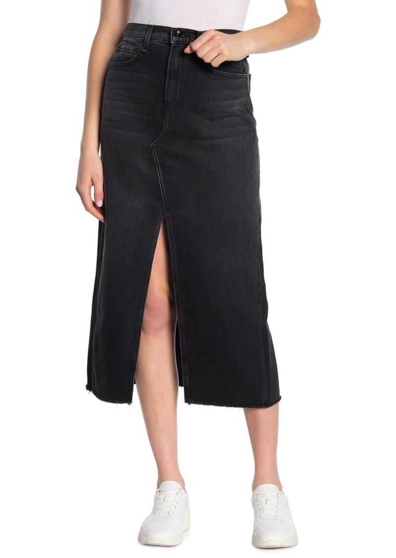 rag & bone Clyde Denim Vented Maxi Skirt