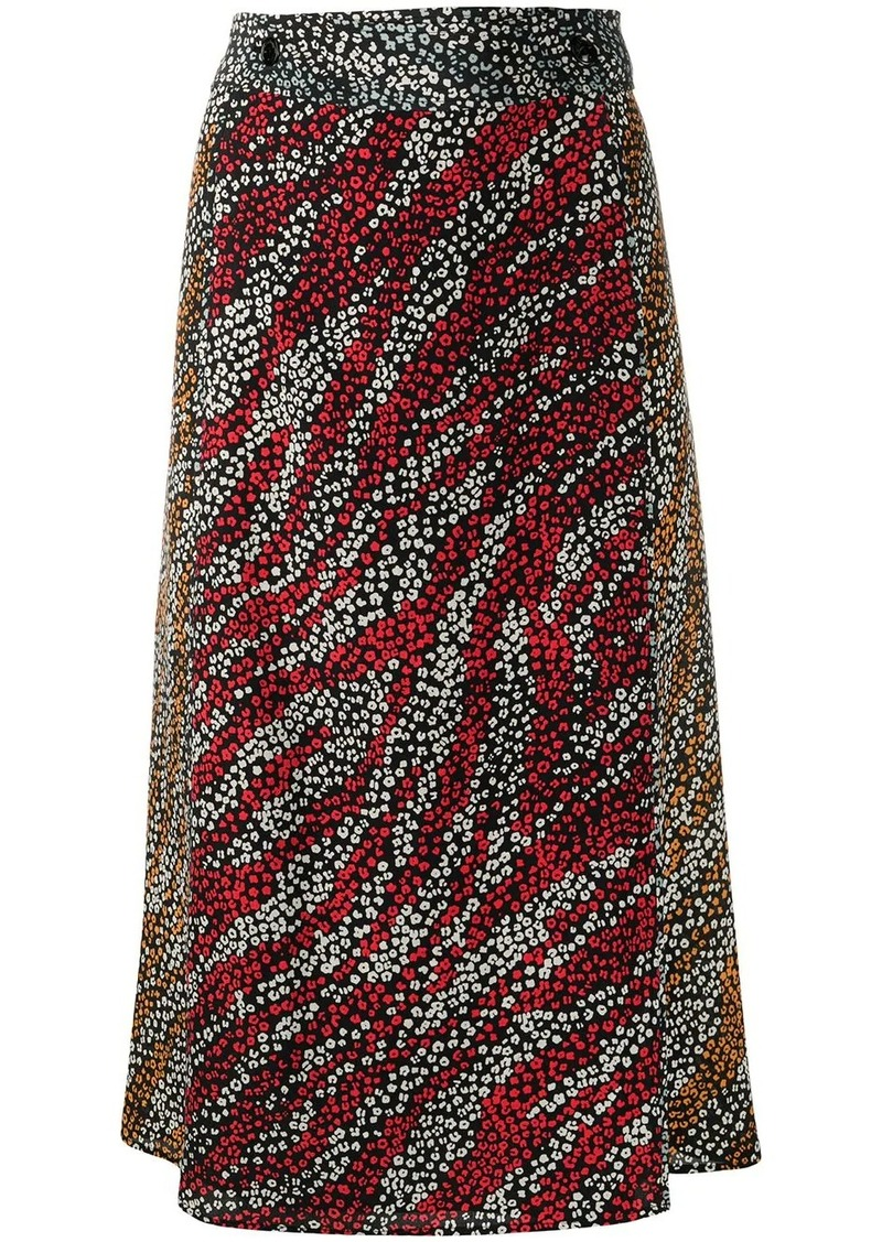 rag & bone Colette floral-print silk skirt