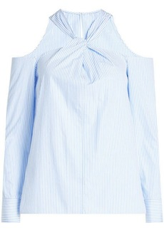 Rag & Bone Cotton Blouse with Cut-Out Shoulders