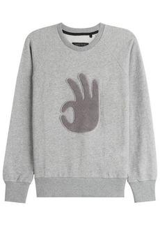 Rag & Bone Cotton Sweatshirt with Applique