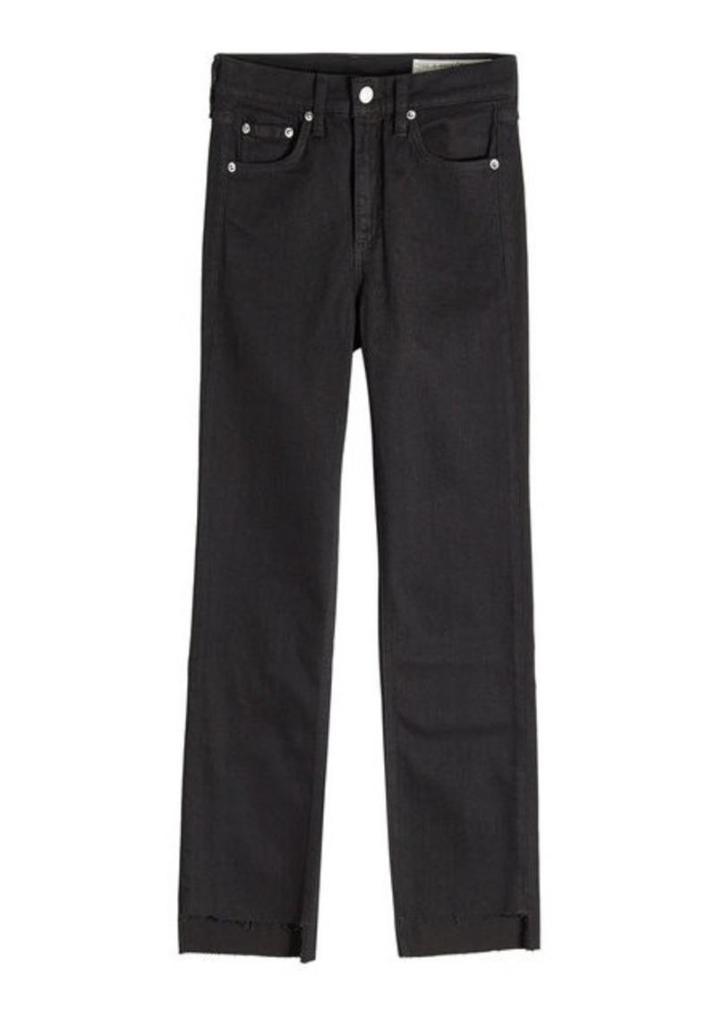 Rag & Bone Cropped Distressed Hem Skinny Jeans