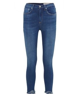 Rag & Bone Cropped High-rise Stretch Skinny Jeans