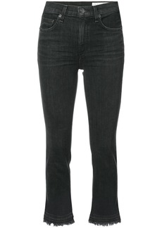 Rag & Bone cropped raw hem jeans