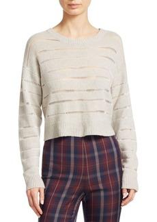 Rag & Bone Cropped Sheer Stripe Sweater