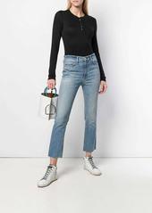 rag & bone cropped slim-fit jeans