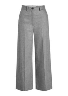 Rag & Bone Cropped Wide Leg Pants with Wool