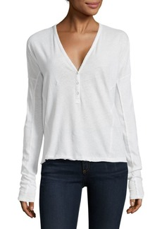 Rag & Bone Dahlia Deep V-Neck Shirt