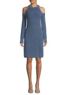 Rag & Bone Dana Cotton Cold-Shoulder Sweater Dress