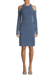 Rag & Bone Dana Cotton Cold-Shoulder Sweater Dress