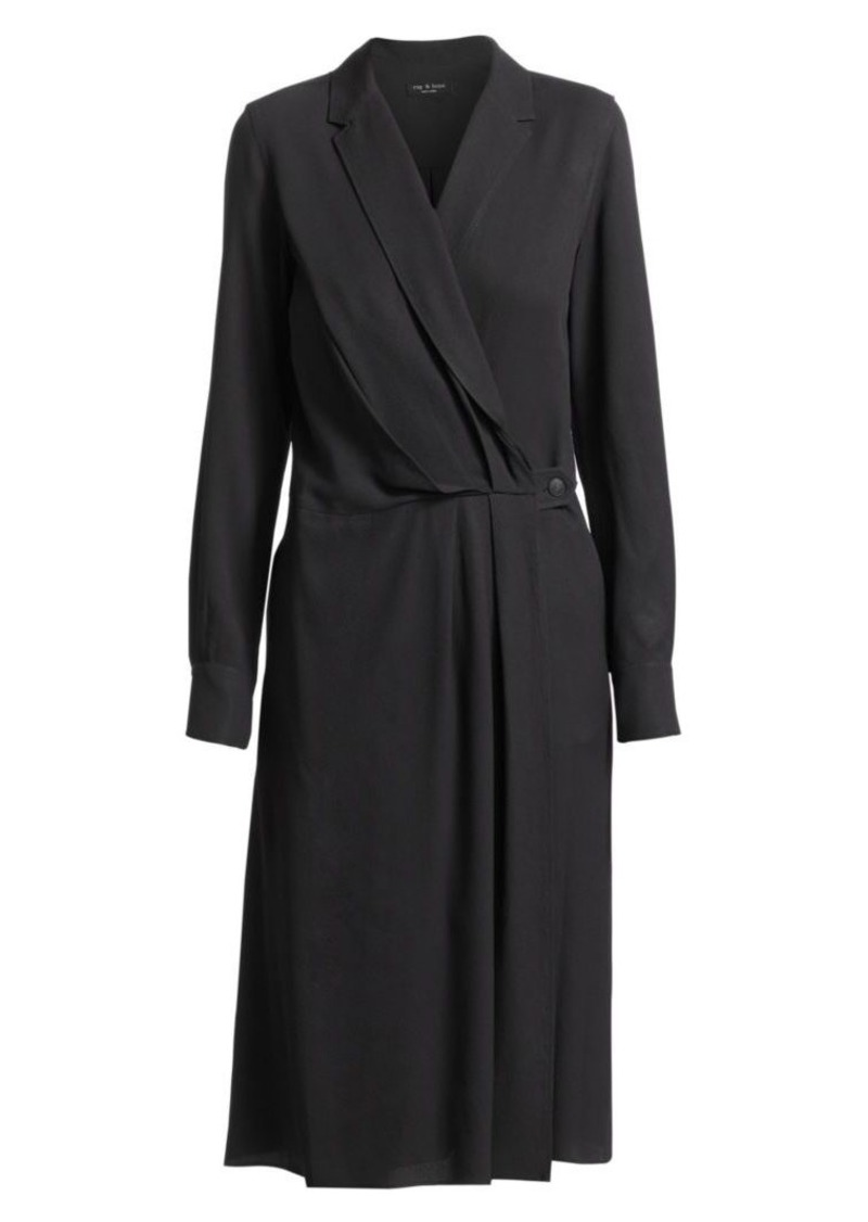 rag & bone Dean Drape-Front Dress