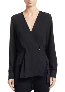 Rag & Bone Debbie Asymmetric Wrap Top