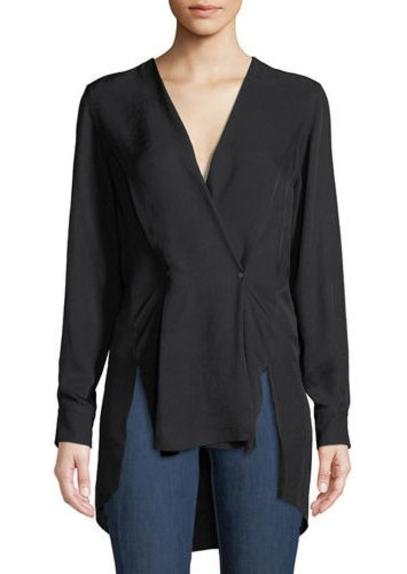 rag & bone Debbie Draped V-Neck High-Low Top