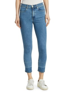 Rag & Bone Multi-Tonal Hem Ankle Cigarette Jeans
