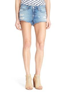 rag & bone Destroyed Cutoff Denim Shorts