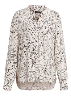 rag & bone Dirdre Polka Dot Long Sleeve Blouse