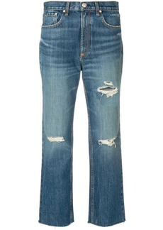 rag & bone distressed cropped jeans