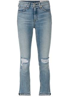 Rag & Bone distressed cropped jeans