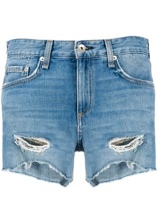 rag & bone distressed denim shorts