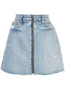 Rag & Bone distressed denim skirt