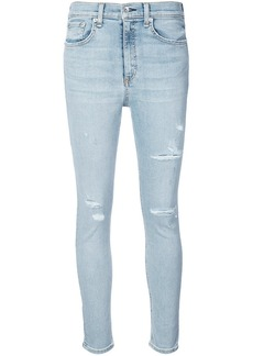 Rag & Bone distressed high waisted skinny jeans