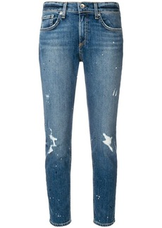 Rag & Bone distressed tapered jeans