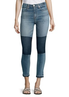 Rag & Bone Dive Colorblock High-Rise Capri Jean