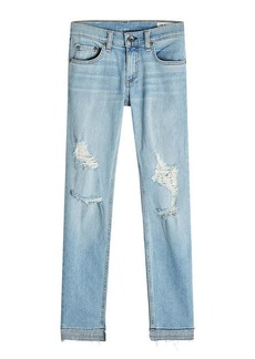 Rag & Bone Dre Capri Distressed Jeans