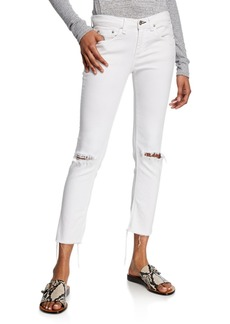 Rag & Bone Dre Low-Rise Ankle Slim Boyfriend Knee-Rip Jeans