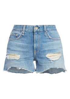 rag & bone Dre Low-Rise Distressed Denim Cut-Off Shorts