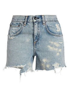 rag & bone Dre Low-Rise Distressed Denim Cutoffs