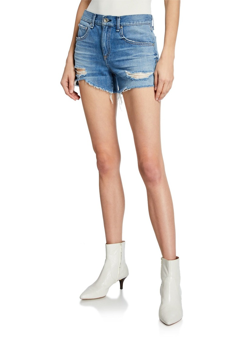 rag & bone Dre Low-Rise Distressed Shorts