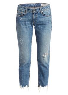 rag & bone Dre Low-Rise Distressed Slim Boyfriend Jeans