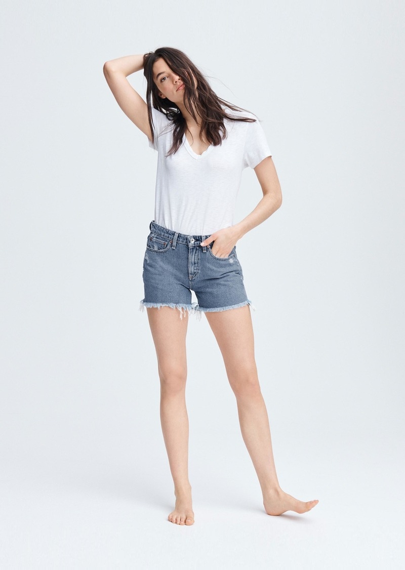 rag & bone Dre Low-Rise Short - Misha Destructed