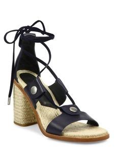 Rag & Bone Eden Leather Lace-Up Block Heel Sandals