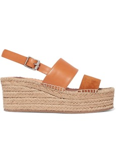 rag & bone Edie Leather And Suede Espadrille Wedge Sandals