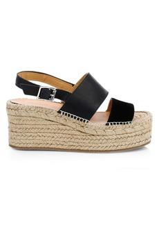 rag & bone Edie Leather Espadrille Platform Wedge Sandals