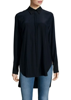 Rag & Bone Edith Silk Hi-Lo Hem Blouse