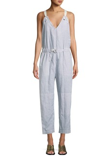 Rag & Bone Ellen Striped Belted Jumpsuit