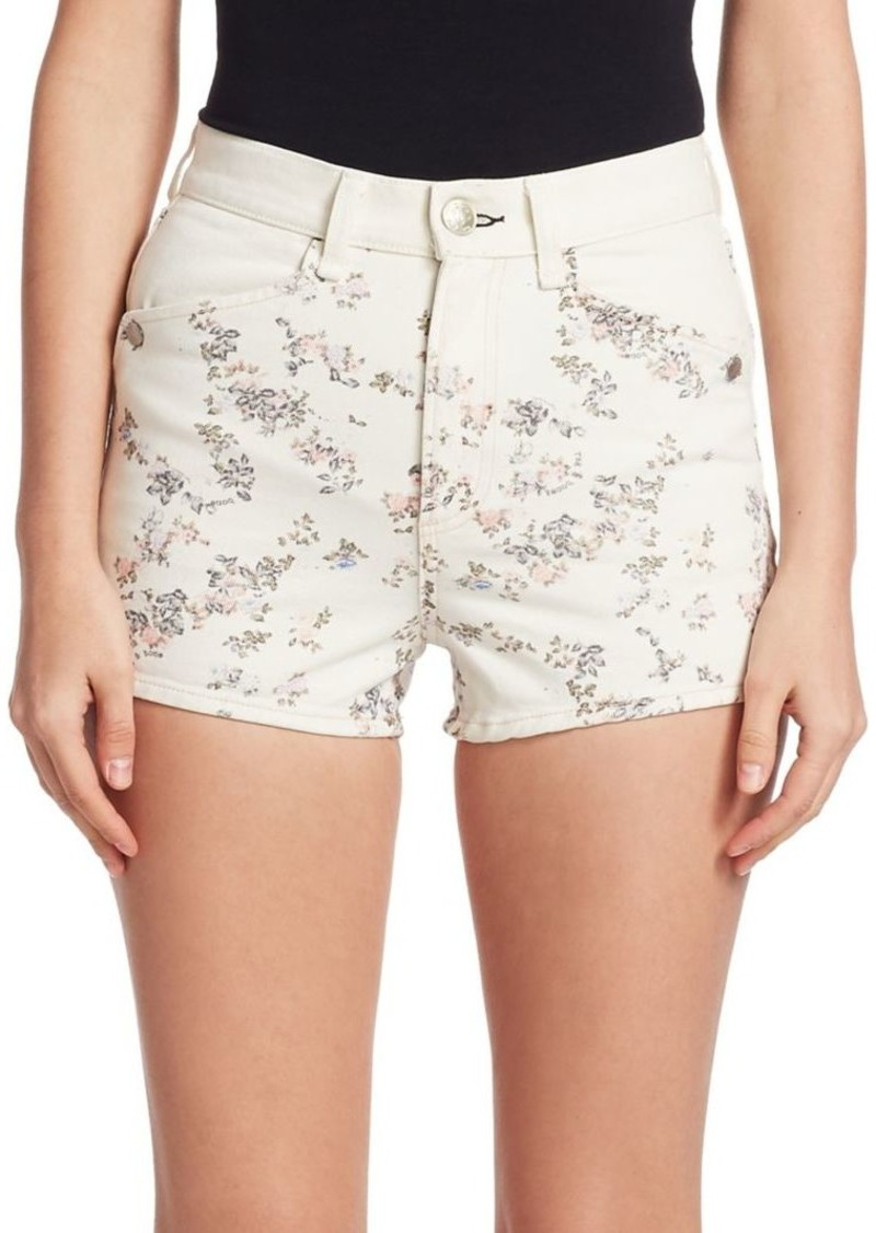 rag & bone Ellie Floral Denim Shorts