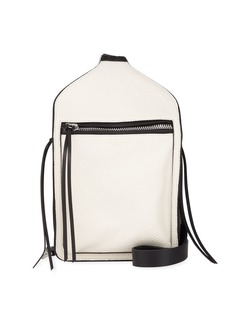 Rag & Bone Elliot Large Leather Belt Bag  White