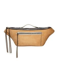 Rag & Bone Elliot Large Suede Belt Bag  Brown